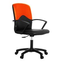 รูปภาพของ เก้าอี้สำนักงาน โมโน STRING หนังเทียม/พนักพิงผ้า (ดำ-ส้ม)