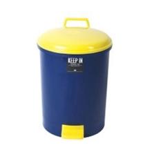 รูปภาพของ ถังขยะกลมขาเหยียบ สแตนดาร์ด RW9086 (35 ลิตร) น้ำเงินฝาเหลือง