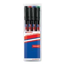 รูปภาพของ ปากกาเขียนแผ่นใส EDDING 140S 0.3มม. ลบไม่ได้ คละสี 4 ด้าม