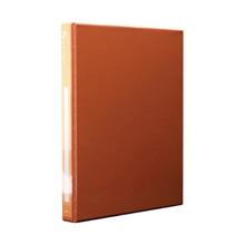 รูปภาพของ แฟ้ม 2 ห่วง ออร์ก้า ปกพีวีซี ขนาด A4 สีส้ม ห่วงรูปตัวD 1นิ้ว