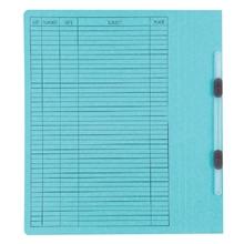รูปภาพของ แฟ้มเจาะสันพับ ใบโพธิ์ 230 แกรม F4 สีฟ้า ลิ้นแฟ้มพลาสติก(แพ็ค50เล่ม)