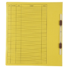รูปภาพของ แฟ้มเจาะสันพับ ใบโพธิ์ รุ่น 403 A4 สีเหลือง ลิ้นแฟ้มพลาสติก(แพ็ค50เล่ม)