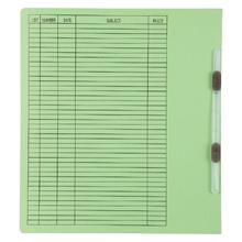 รูปภาพของ แฟ้มเจาะสันพับ ใบโพธิ์ 230 แกรม A4 สีเขียว ลิ้นแฟ้มพลาสติก(แพ็ค50เล่ม)