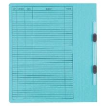 รูปภาพของ แฟ้มเจาะสันพับ ใบโพธิ์ 230 แกรม A4 สีฟ้า ลิ้นแฟ้มพลาสติก(แพ็ค50เล่ม)