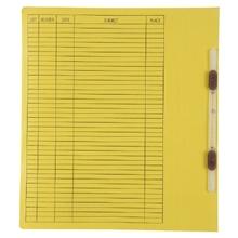 รูปภาพของ แฟ้มเจาะสันพับ ใบโพธิ์ รุ่น403 F4 สีเหลือง ลิ้นแฟ้มพลาสติก(แพ็ค50เล่ม)