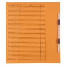 รูปภาพของ แฟ้มเจาะสันพับ ใบโพธิ์ รุ่น403 F4 สีส้ม ลิ้นแฟ้มพลาสติก (แพ็ค50เล่ม)