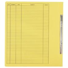 รูปภาพของ แฟ้มเจาะสันพับ ใบโพธิ์ รุ่น 404 230g A4 เหลือง ลิ้นแฟ้มโลหะ (แพ็ค50เล่ม)