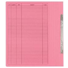 รูปภาพของ แฟ้มเจาะสันพับ ใบโพธิ์ 230 แกรม A4 สีชมพู ลิ้นแฟ้มโลหะ (แพ็ค50เล่ม)