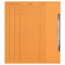 รูปภาพของ แฟ้มเจาะสันพับ ใบโพธิ์ 230 แกรม A4 สีส้ม ลิ้นแฟ้มโลหะ (แพ็ค50เล่ม)