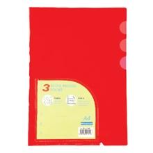 รูปภาพของ แฟ้มซอง ไบน์เดอร์แม็กซ์ 01049 A4 3 ช่อง สีแดง