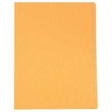 รูปภาพของ แฟ้มพับ ใบโพธิ์ 230 แกรม A4 สีส้ม (แพ็ค 100 เล่ม)