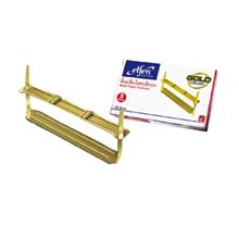 รูปภาพของ ลิ้นแฟ้มโลหะ เอลเฟ่น สีทอง (กล่อง 50 ชุด)