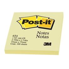 รูปภาพของ POST-IT กระดาษโน้ต 3M 654Y 3'' x 3'' สีเหลือง (100 แผ่น)