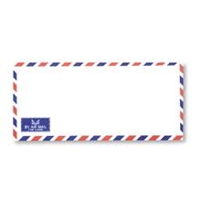 รูปภาพของ ซองขาวเบอร์ 970 แกรม 108x235 มม. จดหมายแอร์เมล์ ฝาแหลม (แพ็ค50 ซอง)
