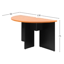 รูปภาพของ โต๊ะประชุมไม้เข้ามุม MONO CFC 126 เชอรี่/ดำ