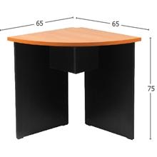 รูปภาพของ โต๊ะประชุมไม้เข้ามุม MONO CFC 60 เชอรี่/ดำ