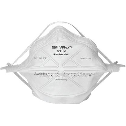 รูปภาพของ หน้ากากป้องกันฝุ่น 3M Vflex™ 9102 P1 พับได้ (แพ็ค 25 ชิ้น)