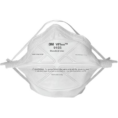 รูปภาพของ หน้ากากป้องกันฝุ่น 3M Vflex™ 9105 N95 พับได้ (แพ็ค 50 ชิ้น)