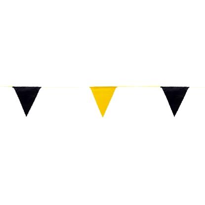 รูปภาพของ ธงราวจราจร ยาว 20 เมตร สีดำ-เหลือง