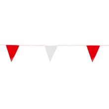รูปภาพของ ธงราวจราจร ยาว 20 เมตร สีขาว-แดง