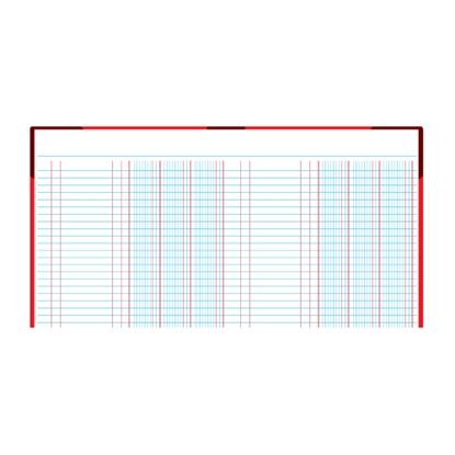 รูปภาพของ สมุดบัญชี 2 ช่องคู่ 5/100 210x330มม. ปกคละสี (100 แผ่น)