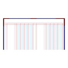 รูปภาพของ สมุดบัญชี 3 ช่องเดี่ยว 5/100 210x330มม. ปกคละสี (100 แผ่น)