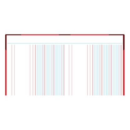รูปภาพของ สมุดบัญชี 3 ช่องคู่ 5/100 210x330มม. ปกคละสี (100 แผ่น)