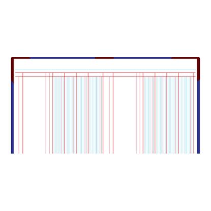 รูปภาพของ สมุดบัญชี 4 ช่องคู่ 5/100 210x330มม. ปกคละสี (100 แผ่น)