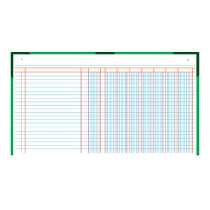 รูปภาพของ สมุดบัญชี 8 ช่องคู่ 5/100 210x330มม. ปกคละสี (100 แผ่น)