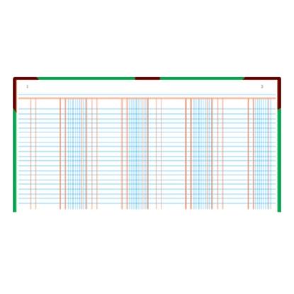 รูปภาพของ สมุดบัญชีแยกประเภท 5/50 210x330มม. ปกคละสี (100 แผ่น)