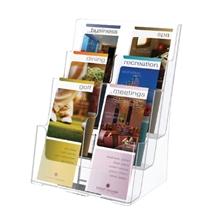 รูปภาพของ กล่องใส่โบรชัวร์ ดีเฟลคโต้ 77401-TL 6 ช่อง 3ชั้น A4
