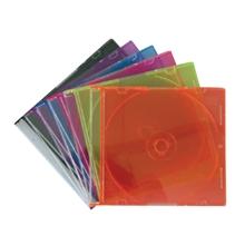 รูปภาพของ กล่องใส่ CD สลิมเคส สีใส 1หน้า (1x10แผ่น)