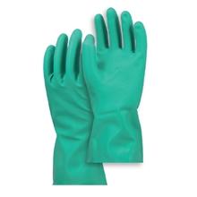 รูปภาพของ ถุงมือยางไนไตรล์ Microtex ยาว 13 นิ้ว สีเขียว ขนาดกลาง