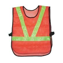 รูปภาพของ เสื้อจราจร แถบสะท้อนแสงตัววี สีส้มแถบเหลือง A-TAP รุ่น US011
