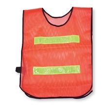 รูปภาพของ เสื้อจราจร แถบสะท้อนแสง 2 เส้นสั้น สีส้มแถบเหลือง A-TAP รุ่น US001