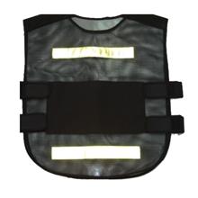 รูปภาพของ เสื้อจราจร แถบสะท้อนแสง 2 เส้นสั้น สีดำแถบขาว A-TAP รุ่น US001