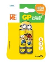 รูปภาพของ ถ่านอัลคาไลน์ GP 15AUYOY-2AS2 AA x 2-Minions