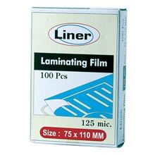 รูปภาพของ พลาสติกเคลือบ ไลเนอร์ 150 ไมครอน 75x110 มม.(กล่อง100แผ่น)