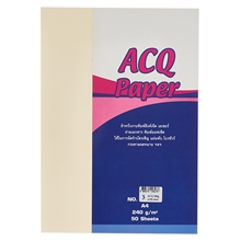 รูปภาพของ กระดาษงานสร้างสรรค์ ACQ No.3 240 แกรม สีครีม (แพ็ค 50 แผ่น)