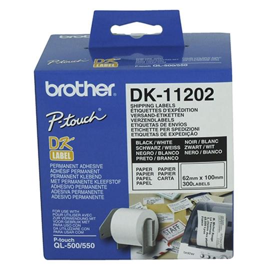 รูปภาพของ เทปพิมพ์ฉลาก Brother DK-11202 62x 100 มม.(300ป้าย/ม้วน)