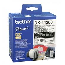 รูปภาพของ เทปพิมพ์ฉลาก Brother DK-11208 38x 90 มม. (400ป้าย/ม้วน)