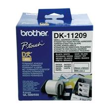 รูปภาพของ เทปพิมพ์ฉลาก Brother DK-11209 29x 62 มม. (800ป้าย/ม้วน)
