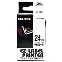 รูปภาพของ เทปพิมพ์อักษร CASIO XR-24WE1 24 มม. ดำพื้นขาว