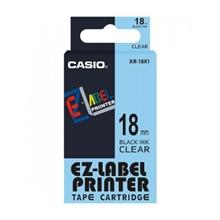 รูปภาพของ เทปพิมพ์อักษร CASIO XR-18X1 18 มม. ดำพื้นใส
