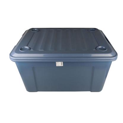 รูปภาพของ กล่องพลาสติกอเนกประสงค์ ล้อเลื่อน KPC#80 80ลิตร 47x66x34 ซม. สีเทา