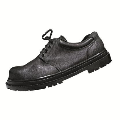 รูปภาพของ รองเท้าเซฟตี้หุ้มส้น หนังแท้ แบบผูกเชือก A-TAP รุ่น AS-01 Size 33สีดำ