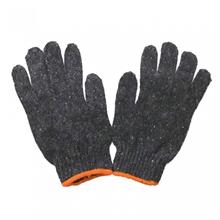 รูปภาพของ ถุงมือผ้าทอ 7 ขีด สีเทาขอบส้ม (แพ็ค 12 คู่)
