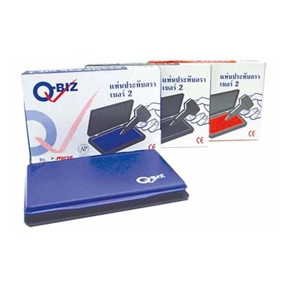 รูปภาพของ แท่นประทับตรา No.2 Q-BIZ สีน้ำเงิน