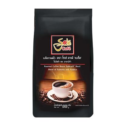 รูปภาพของ เมล็ดกาแฟคั่วโซเล่ คาเฟ่แบล็ค 1,000 กรัม