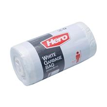 รูปภาพของ ถุงขยะม้วน Hero สีขาว ขนาด 18 x 20 นิ้ว ( บรรจุ 40 ใบ )